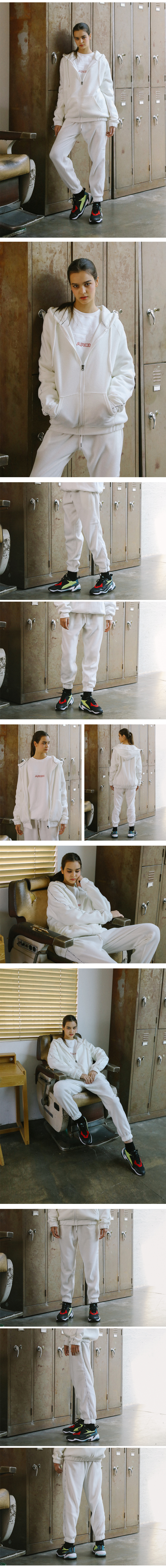써치410 UNISEX SEARCH SIDE TAPE FLEECE TRACK PT_WHITE