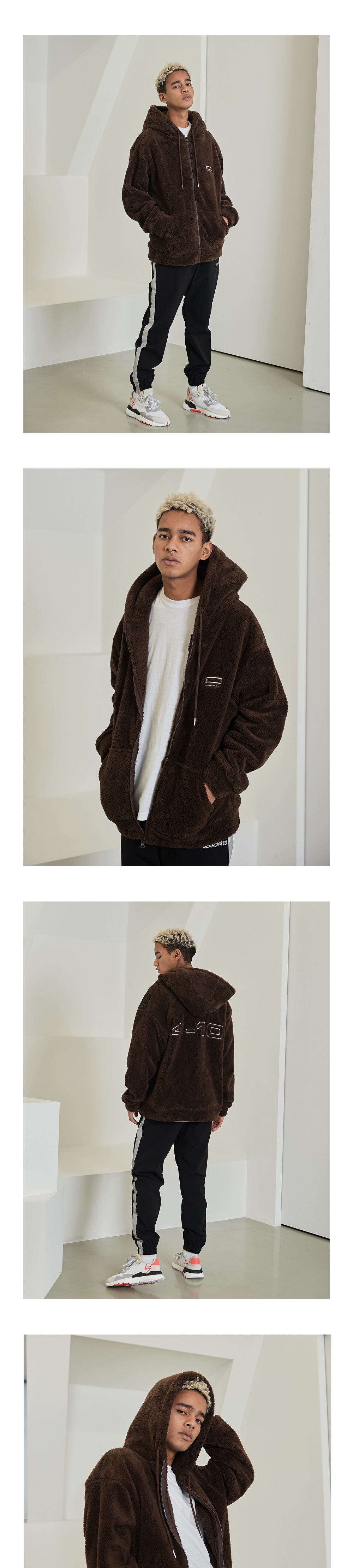 410 NAPPING FULL ZIP HOODIE_BROWN