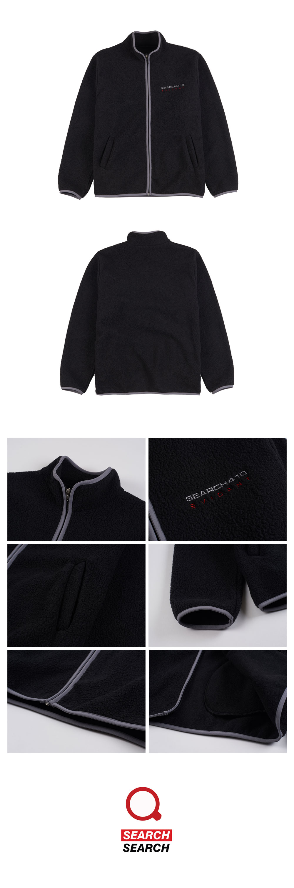 EVIDENT FLEECE FULL ZIP_BLACK