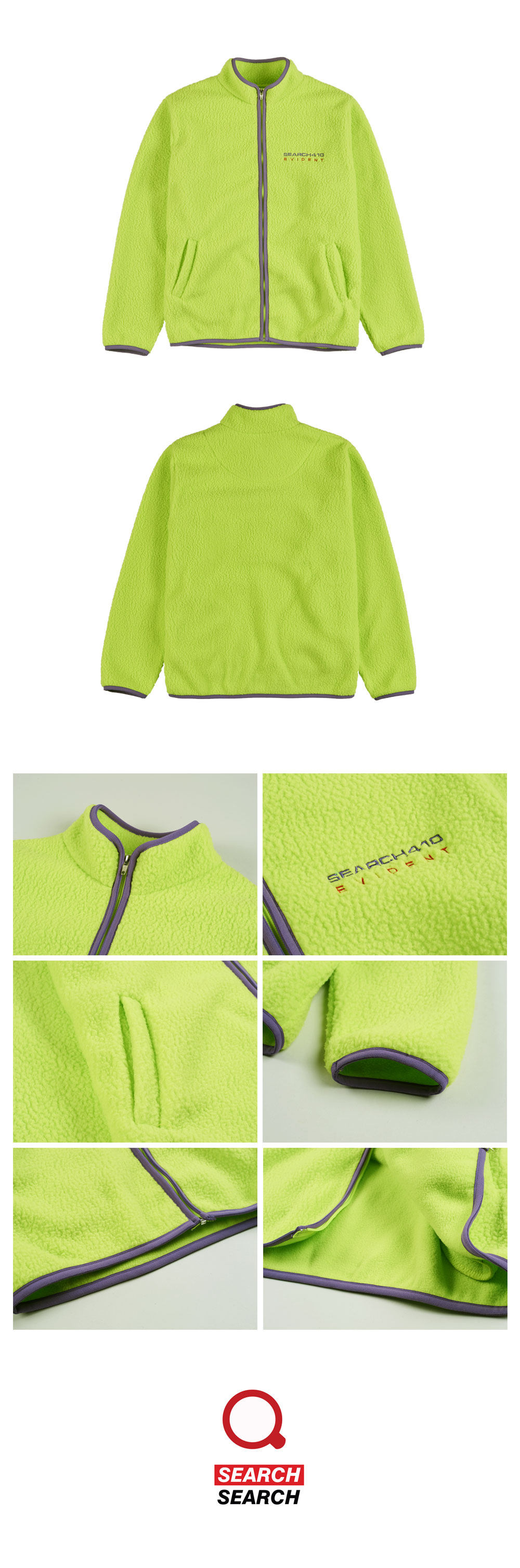 EVIDENT FLEECE FULL ZIP_LIME
