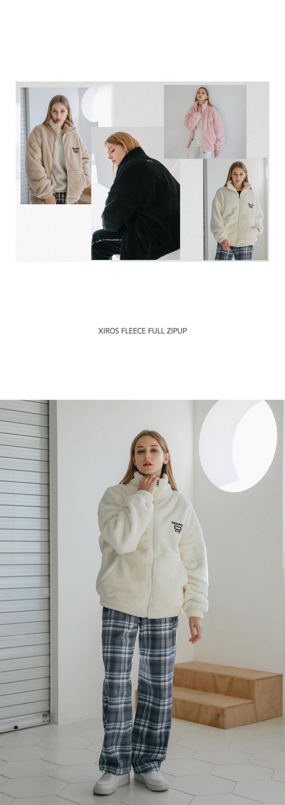 [UNISEX] XIROS FLEECE FULL ZIPUP_IVORY
