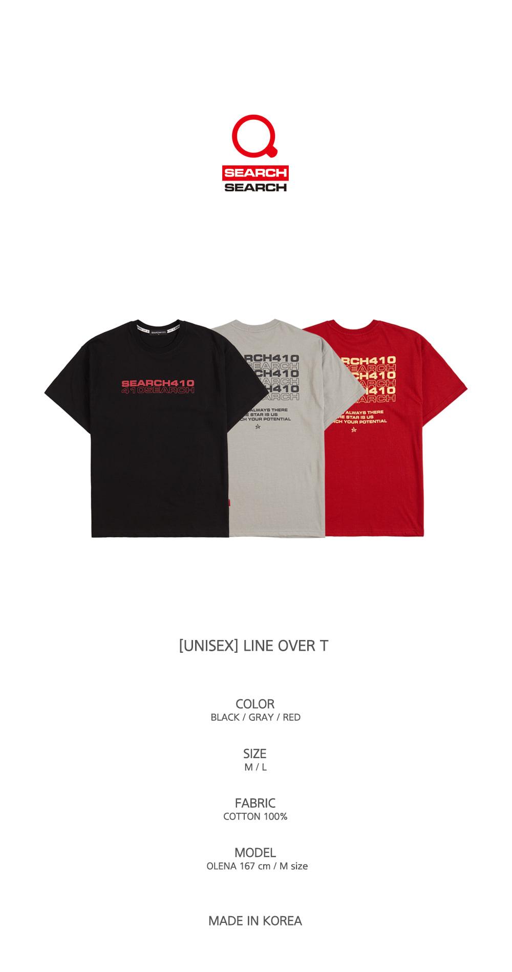 [UNISEX] LINE OVER T_GRAY