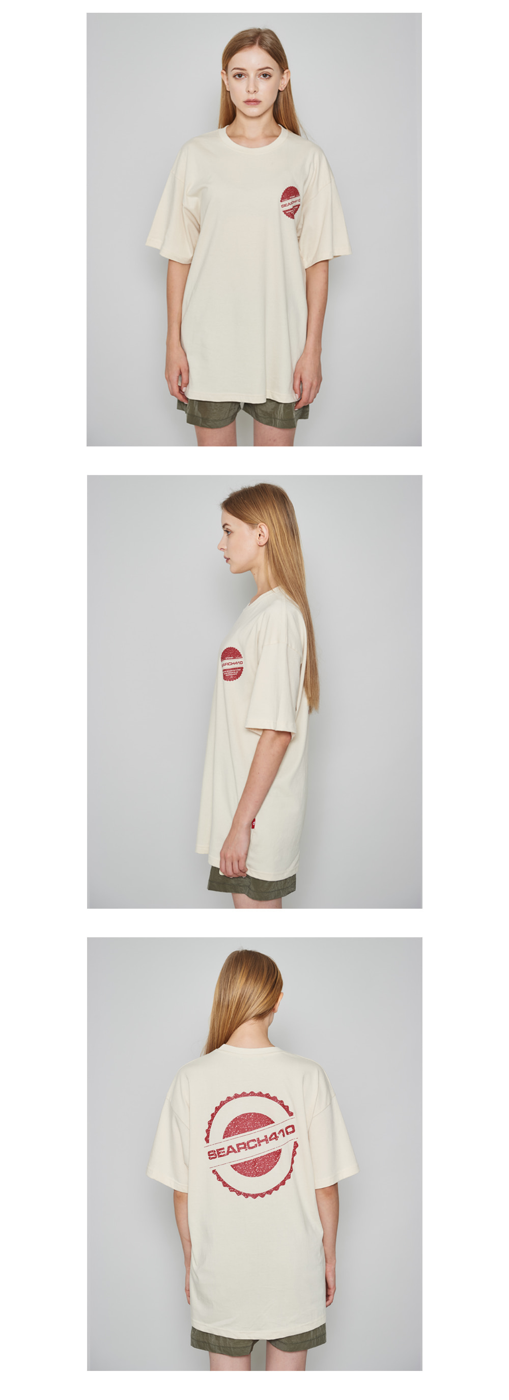 [UNISEX] STAMP OVER T_CREAM